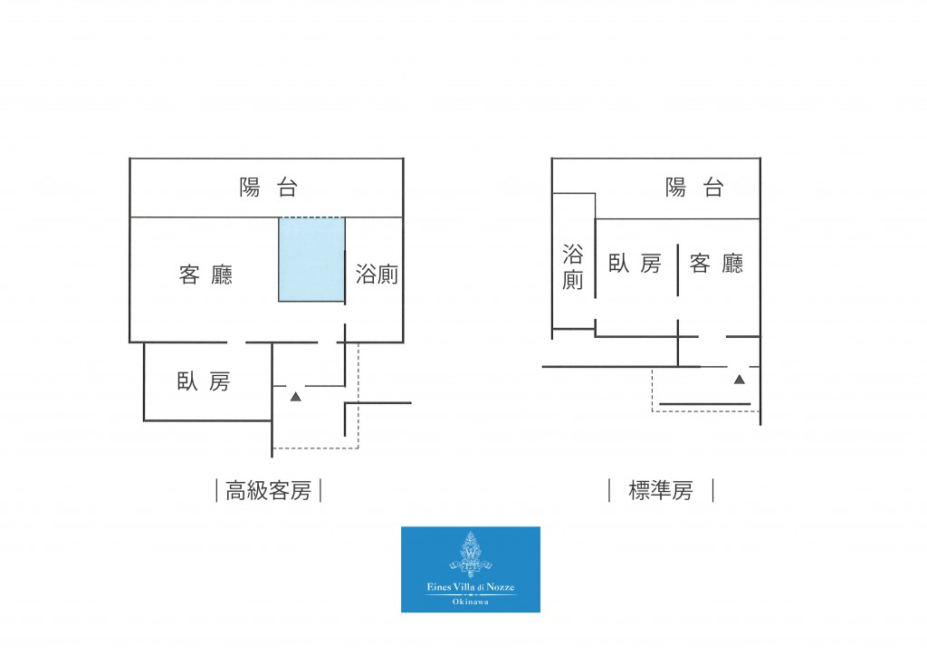 Eines Okinawa 客房房型平面圖