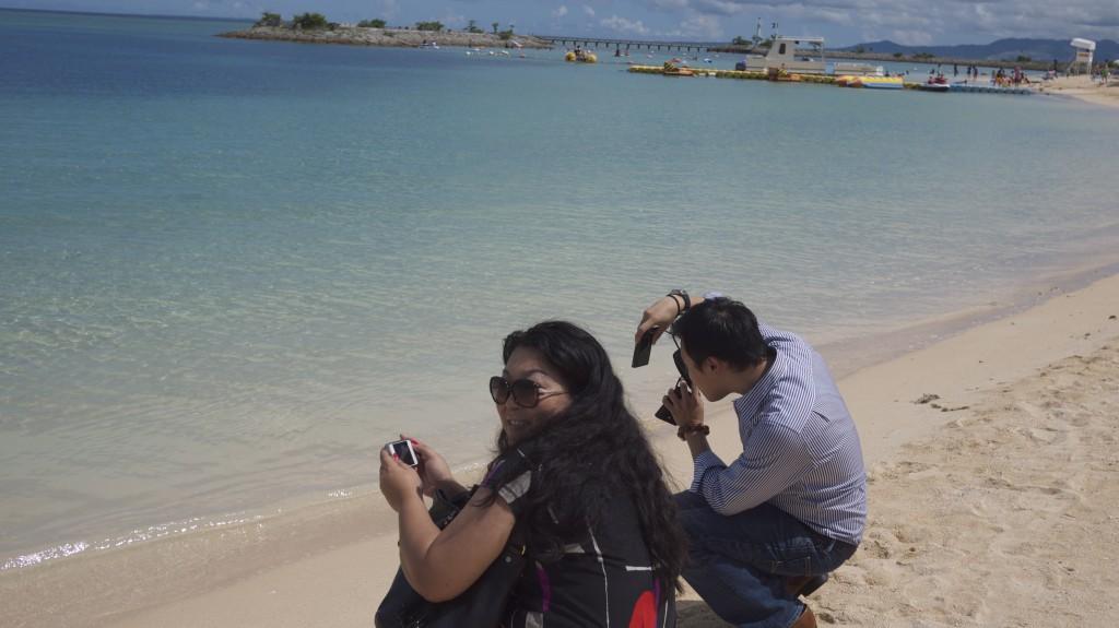 金紗夢沖繩聖瑪麗娜婚禮 沙灘婚紗照