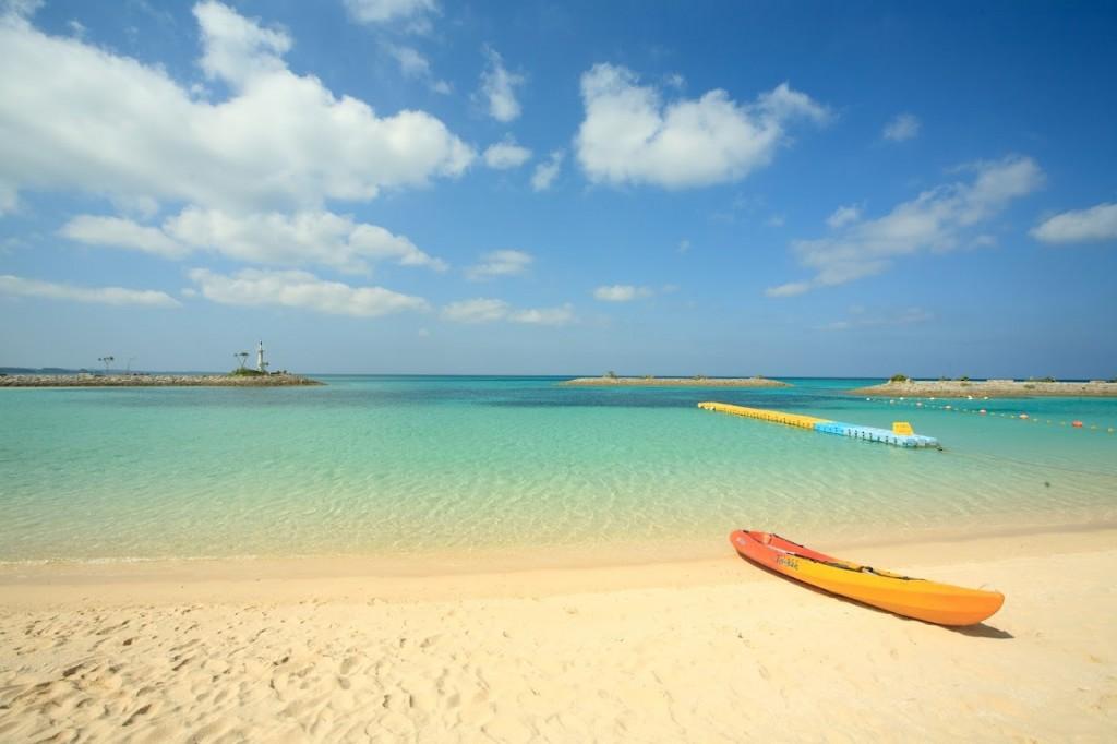 金紗夢沖繩聖瑪麗娜婚禮 Sunmarina Resort 沙灘