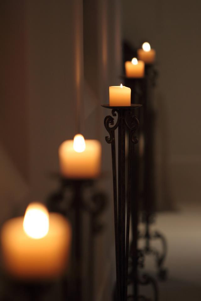 美麗浪漫的蠟燭佈置