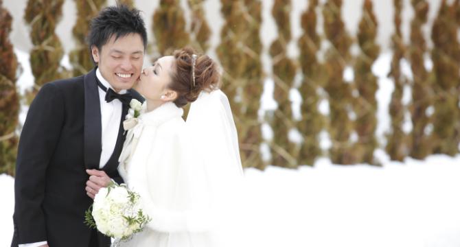 雪景婚紗照